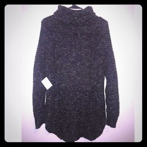 Free people charcoal c sweater